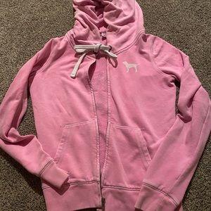 Victoria secret pink zip-up hoodie
